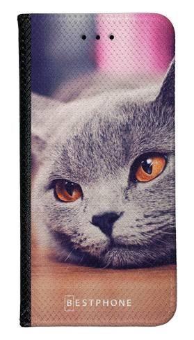 Portfel Wallet Case LG K40 lazy cat