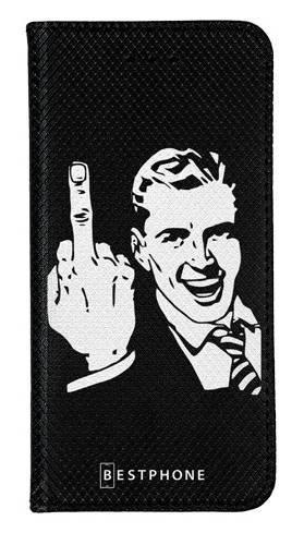 Portfel Wallet Case LG K40 middle finger