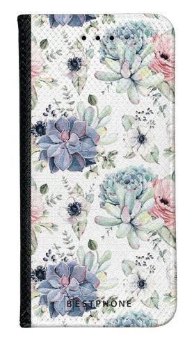 Portfel Wallet Case Samsung Galaxy A10e pastelowe kwiatki