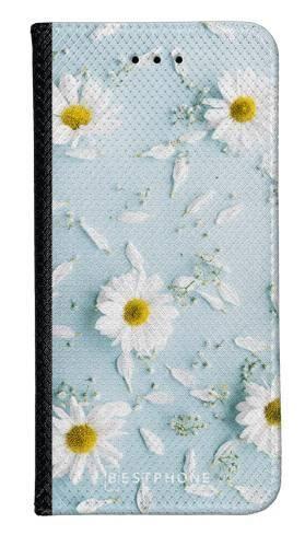 Portfel Wallet Case Samsung Galaxy A10e stokrotki na błękiciw