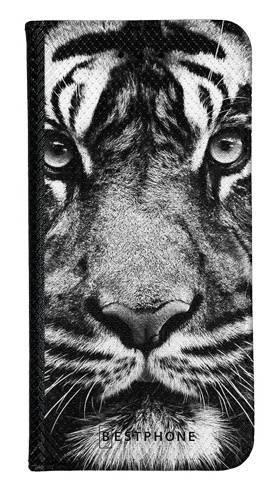 Portfel Wallet Case Samsung Galaxy A20e czarno biały tygrys