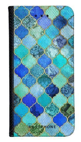 Portfel Wallet Case Samsung Galaxy A20e niebieski płytki