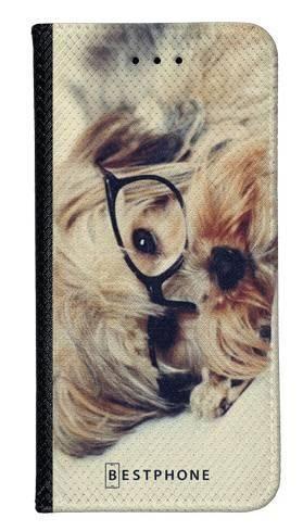 Portfel Wallet Case Samsung Galaxy A20e pies w okularach