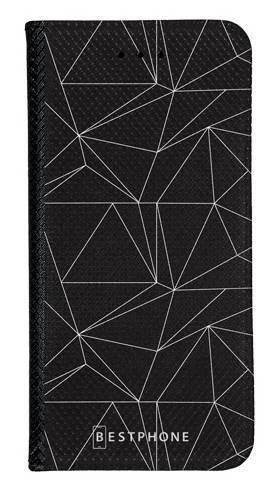 Portfel Wallet Case Samsung Galaxy A20e trójkątny wzór biały
