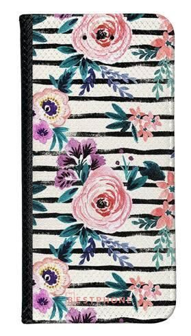 Portfel Wallet Case Samsung Galaxy A5 kwiaty i paski