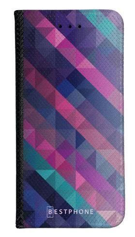 Portfel Wallet Case Samsung Galaxy A60 fioletowa geometria