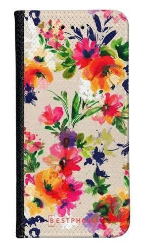 Portfel Wallet Case Samsung Galaxy A60 malowane kwiaty