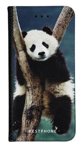 Portfel Wallet Case Samsung Galaxy A60 panda na drzewie