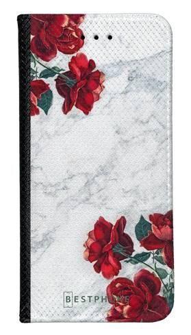 Portfel Wallet Case Samsung Galaxy A60 róże i marmur