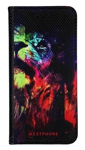 Portfel Wallet Case Samsung Galaxy A7 2018 kolorowy lew