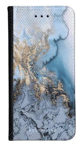 Portfel Wallet Case Samsung Galaxy Core Prime błękitny marmur
