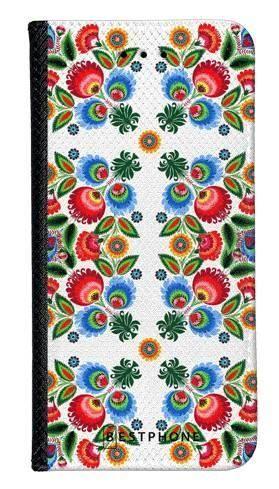 Portfel Wallet Case Samsung Galaxy Core Prime kwiaty łowickie