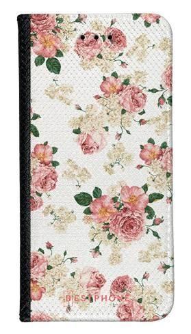 Portfel Wallet Case Samsung Galaxy Note 10 Pro beżowe kwiatki