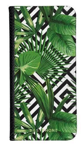 Portfel Wallet Case Samsung Galaxy Note 10 kwiaty tropikalne geometryczne