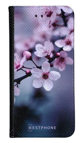 Portfel Wallet Case Samsung Galaxy Note 10 kwiaty wiśni