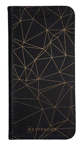 Portfel Wallet Case Samsung Galaxy Note 10 trójkątny wzór złoty