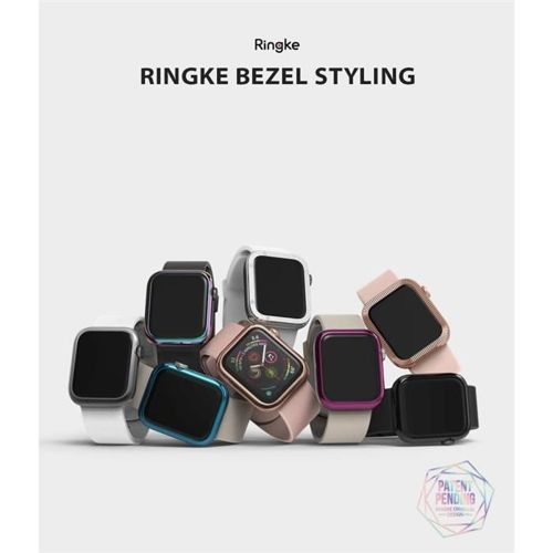 RINGKE obudowa nakładka BEZEL STYLING APPLE WATCH 1/2/3 (38MM) GLOSSY SILVER