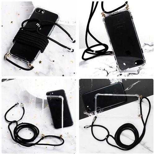 Rope case żelowe etui ze smyczą torebka smycz Samsung Galaxy S8 przezroczysty