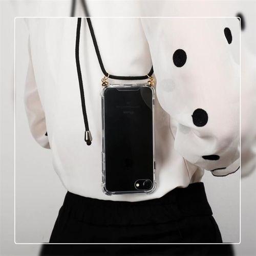 Rope case żelowe etui ze smyczą torebka smycz Xiaomi Redmi Note 7 przezroczysty