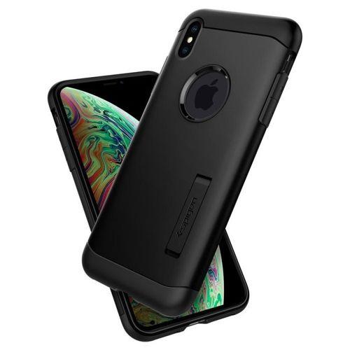 SPIGEN Slim Armor iPhone XR black +szkło 3MK HG Lite