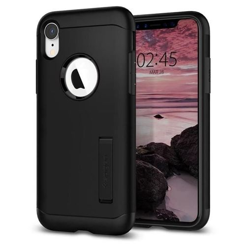 SPIGEN Slim Armor iPhone XR black + szkło 5D UV