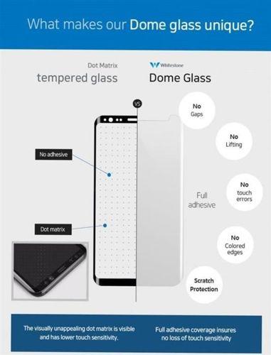 SZKŁO HARTOWANE WHITESTONE DOME GLASS GALAXY NOTE 8 CLEAR