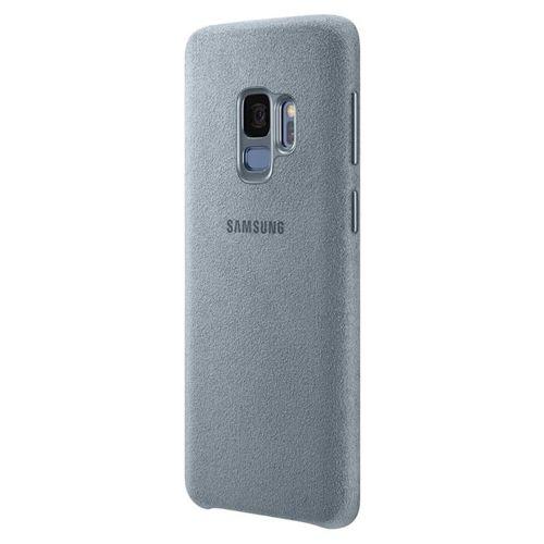 Samsung Alcantara Cover stylowe etui pokrowiec Samsung Galaxy S9 G960 miętowy
