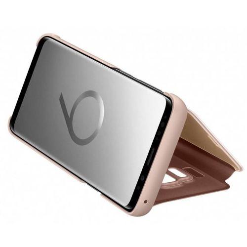 Samsung Clear View Standing Cover futerał etui z inteligentną klapką Samsung Galaxy S9 G960 złoty (EF-ZG960CFEGWW)