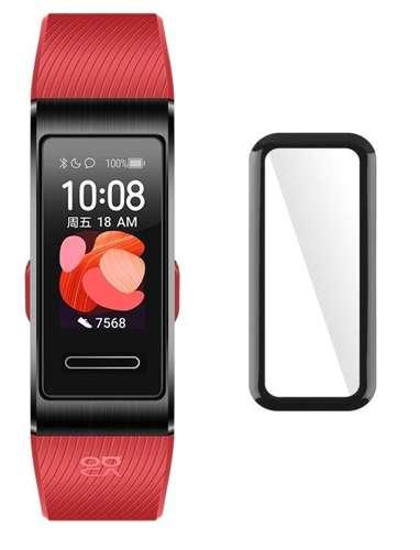Szkło Hybrydowe FULL GLUE 5D do Huawei Band 4 czarny