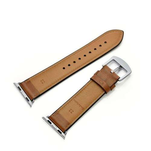 TECH-PROTECT opaska pasek bransoleta LEATHER APPLE WATCH 1/2/3 BROWN 42mm