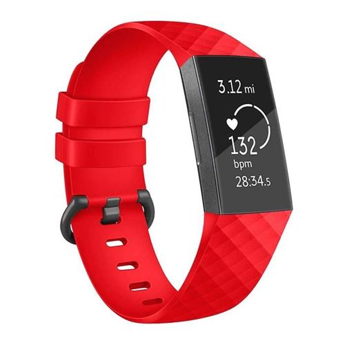 TECH-PROTECT opaska pasek bransoleta SMOOTH FITBIT CHARGE 3 RED