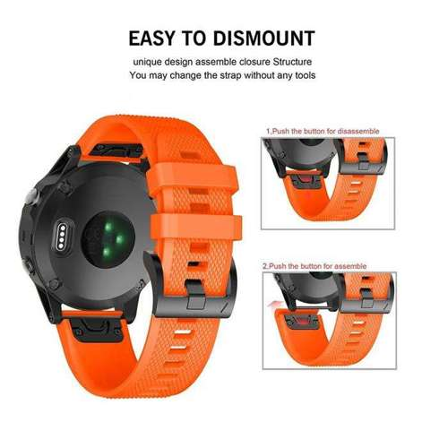 TECH-PROTECT opaska pasek bransoleta SMOOTH GARMIN FENIX 5/6/6 PRO ORANGE