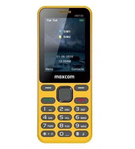 Telefon komórka MAXCOM MM139 zakrzywiony poręczny żółty