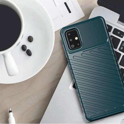 Thunder Case elastyczne pancerne etui pokrowiec Samsung Galaxy A71 niebieski