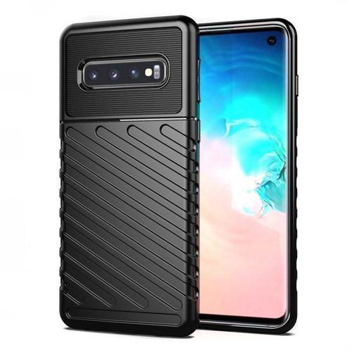 Thunder Case elastyczne pancerne etui pokrowiec Samsung Galaxy S10 czarny