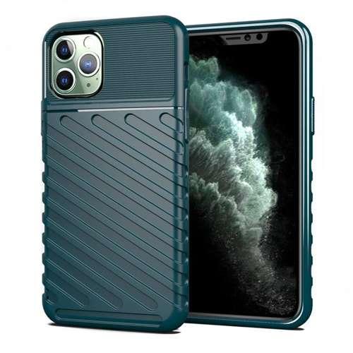 Thunder Case elastyczne pancerne etui pokrowiec iPhone 11 Pro zielony
