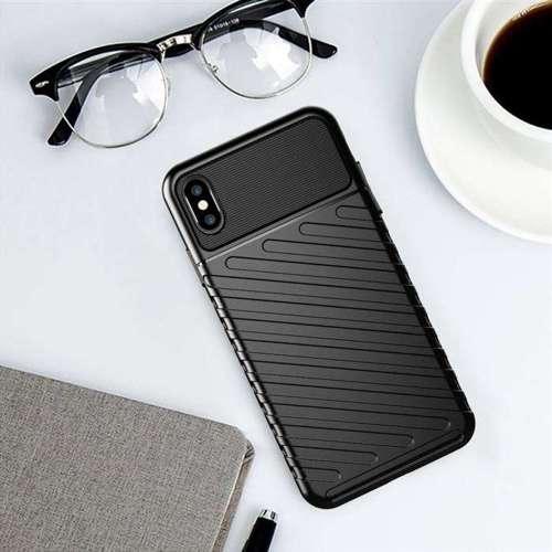 Thunder Case elastyczne pancerne etui pokrowiec iPhone XS Max czarny