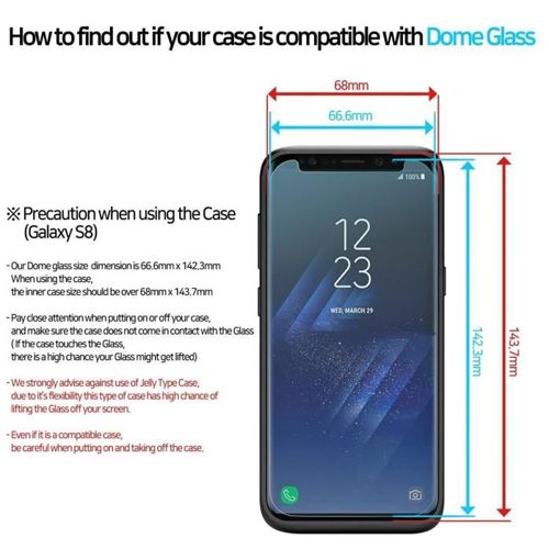WHITESTONE DOMEGLASS zestaw zamienny GALAXY S8 CLEAR