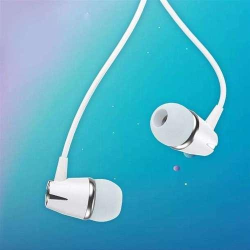 WK Design Y6 dokanałowe słuchawki 3.5mm mini jack zestaw słuchawkowy z pilotem biały (Y6 white)
