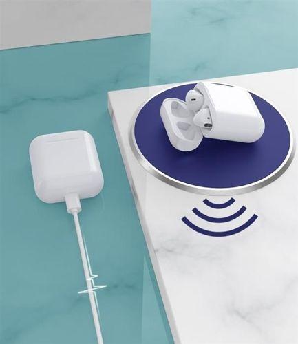 WK Design douszne bezprzewodowe słuchawki Bluetooth 5.0 TWS biały (LK Airpods)