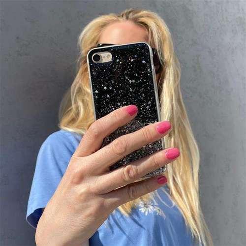 Wozinsky Star Glitter błyszczące etui pokrowiec z brokatem Samsung Galaxy A50s / Galaxy A50 / Galaxy A30s czarny
