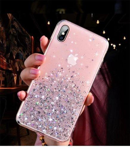 Wozinsky Star Glitter błyszczące etui pokrowiec z brokatem iPhone XS Max różowy