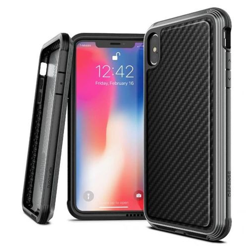 X-DORIA DEFENSE LUX IPHONE X / XS BLACK CARBON