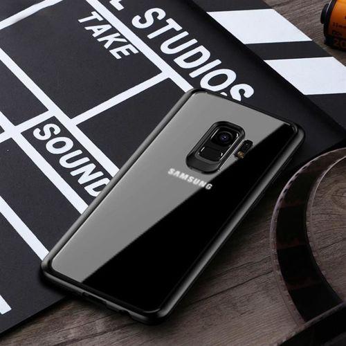 iPaky Frame elastyczne żelowe etui z ramką Samsung Galaxy S9 Plus G965 czarny