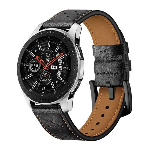 opaska pasek bransoleta LEATHER SAMSUNG GALAXY WATCH 42MM czarna