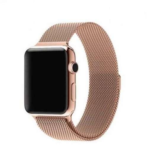 opaska pasek bransoleta MILANESEBAND Apple Watch 1/2/3/4/5/6/SE 38/40mm VINTAGE GOLD