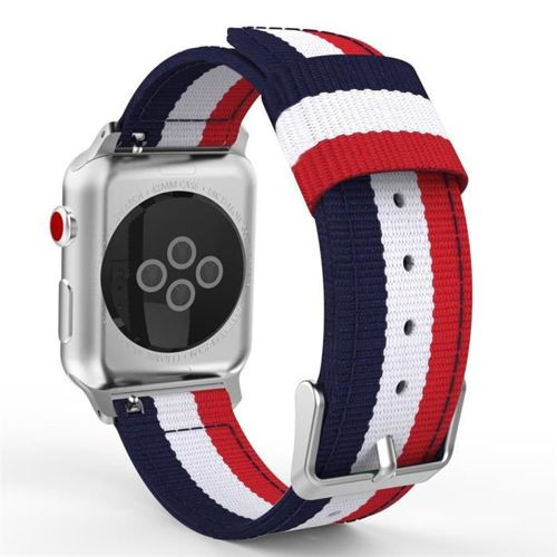 opaska pasek bransoleta WELLING APPLE WATCH 1/2/3/4/5/6/SE 38/40MM NAVY/RED